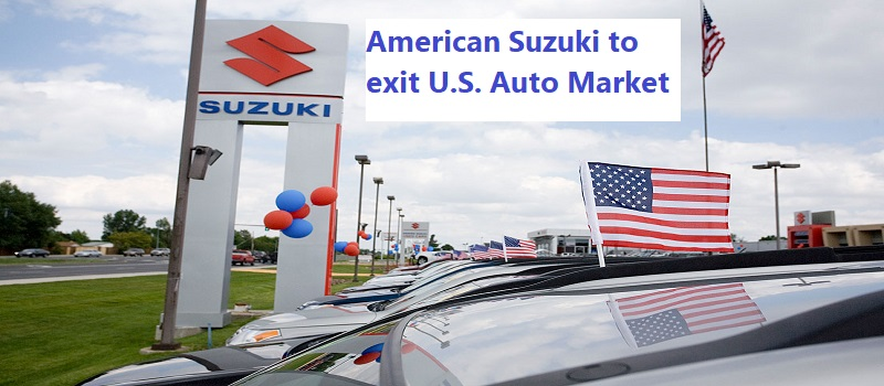 American Suzuki to exit U.S. auto market