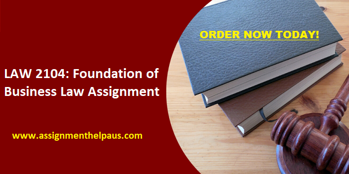 Foundation-of-Business-Law-Assignment